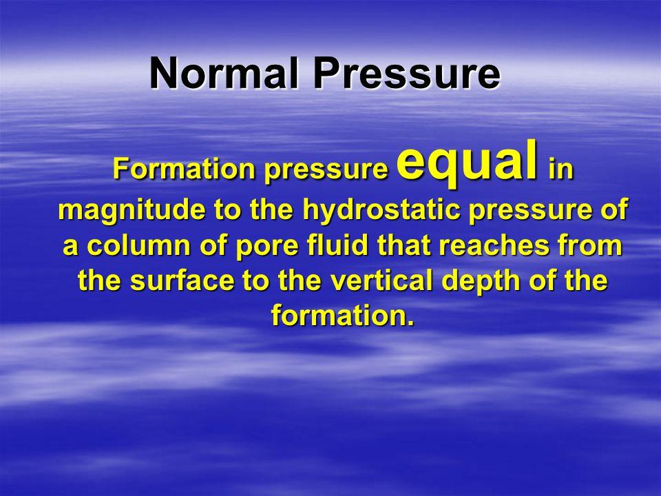 Normal Pressure MatrixPores Expelled fluid