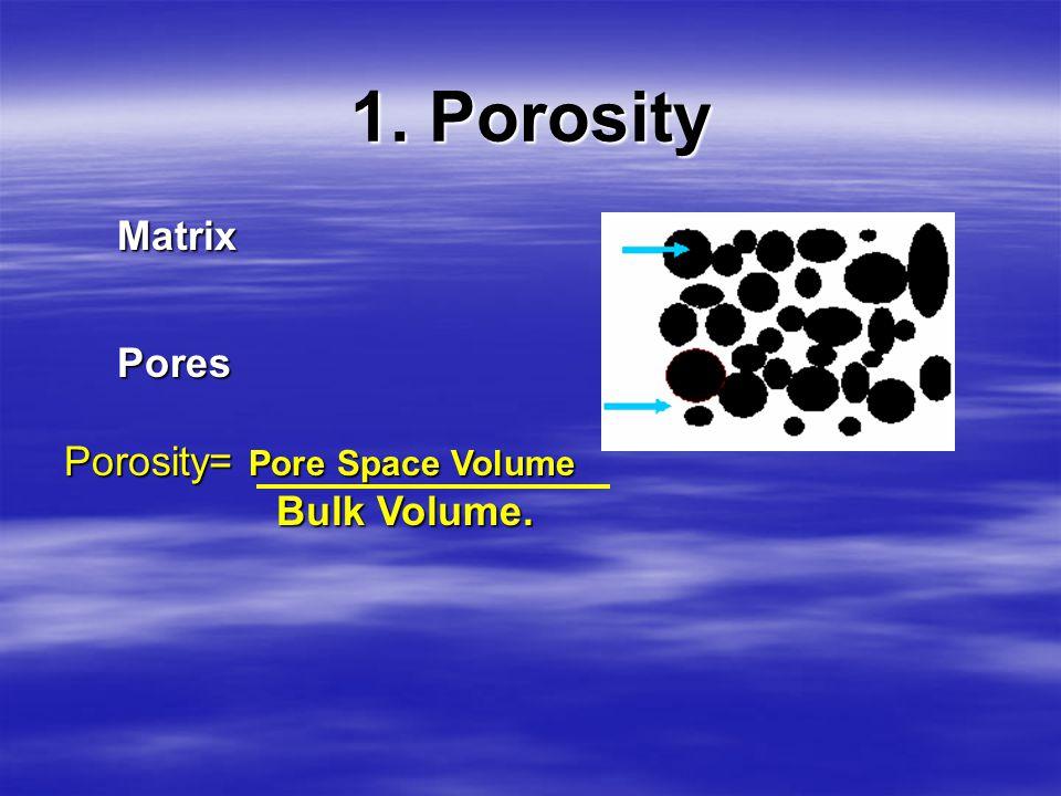  Porosity.  Saturation.  Permeability.  Overburden.