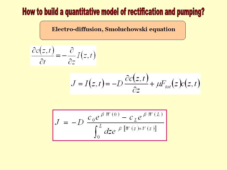 Electro-diffusion, Smoluchowski equation
