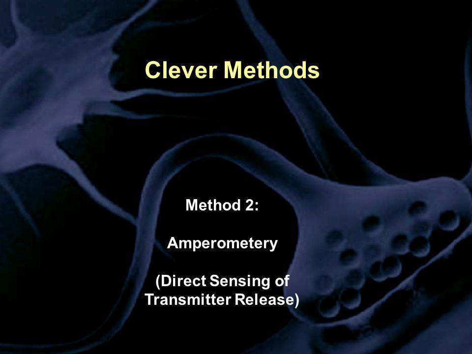 Clever Methods Method 2: Amperometery (Direct Sensing of Transmitter Release)