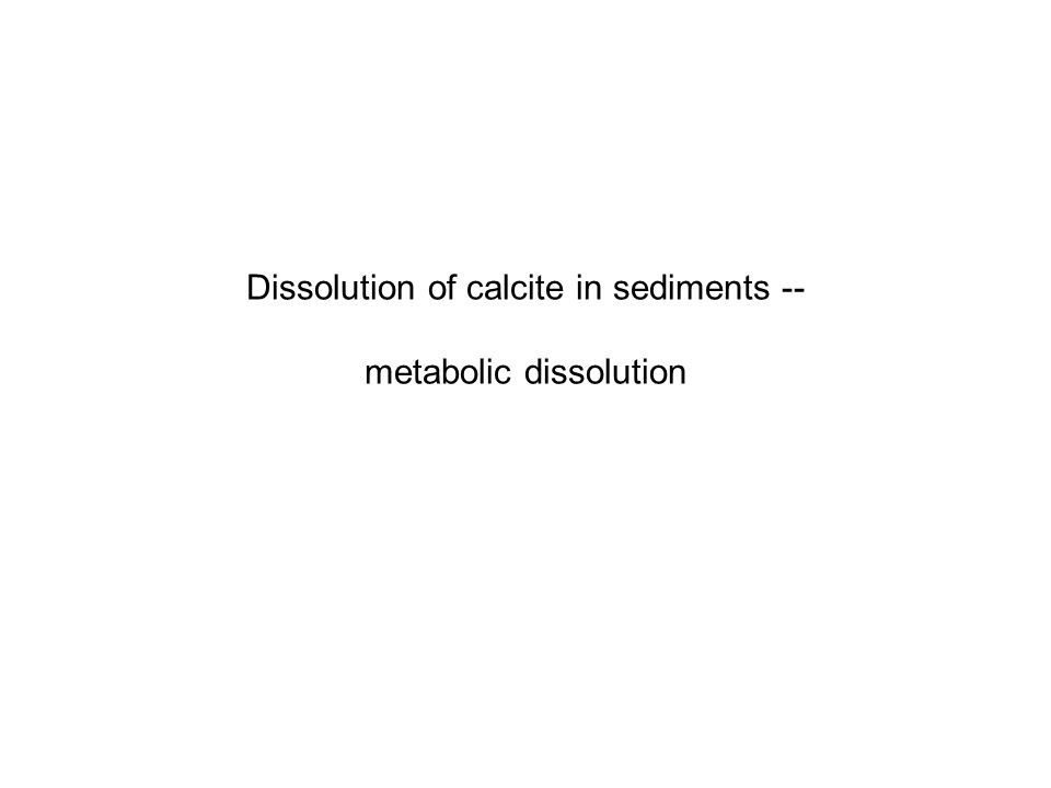 Dissolution of calcite in sediments -- metabolic dissolution