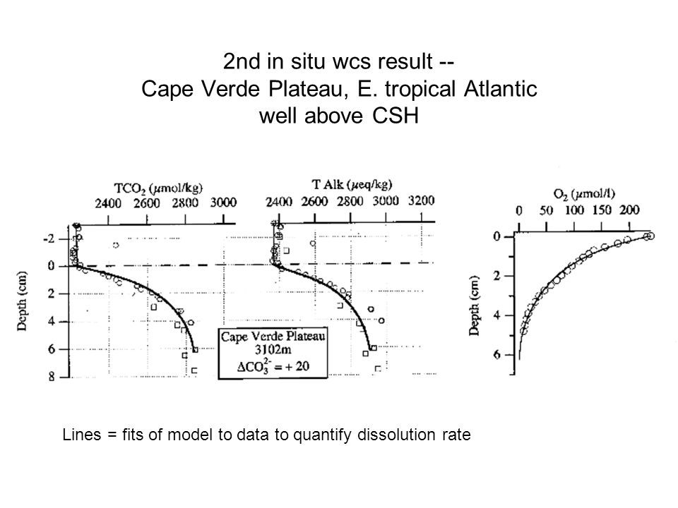 2nd in situ wcs result -- Cape Verde Plateau, E.