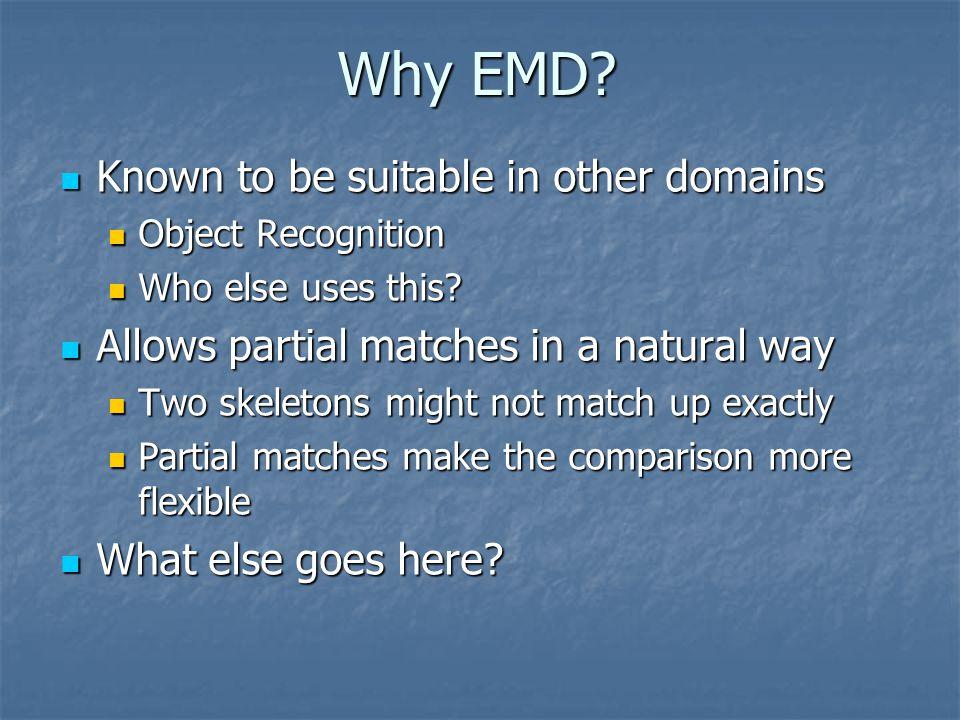 Why EMD.