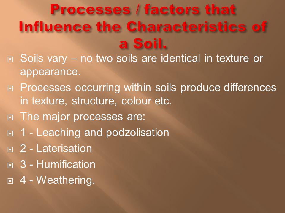  Leaching occurs when heavy rainfall percolates (soaks) down through soils.