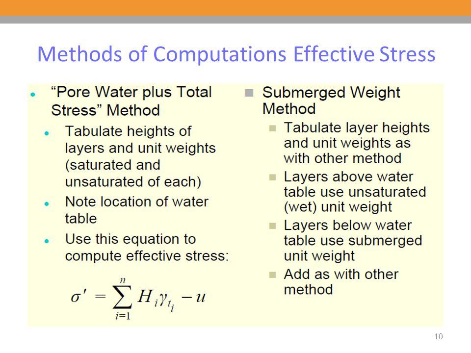 10 Methods of Computations Effective Stress