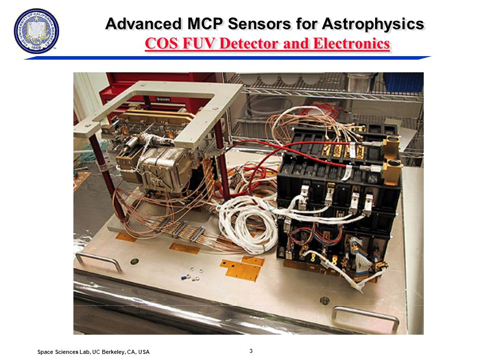 4 Space Sciences Lab, UC Berkeley, CA, USA COS FUV Detector QE Advanced MCP Sensors for Astrophysics COS FUV Detector QE CsI cathodes on FUV02 flight detector compared with COS spec Segment A Segment B