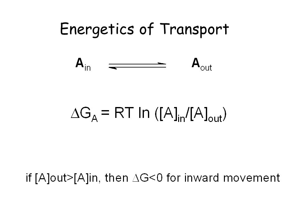 Energetics of Transport