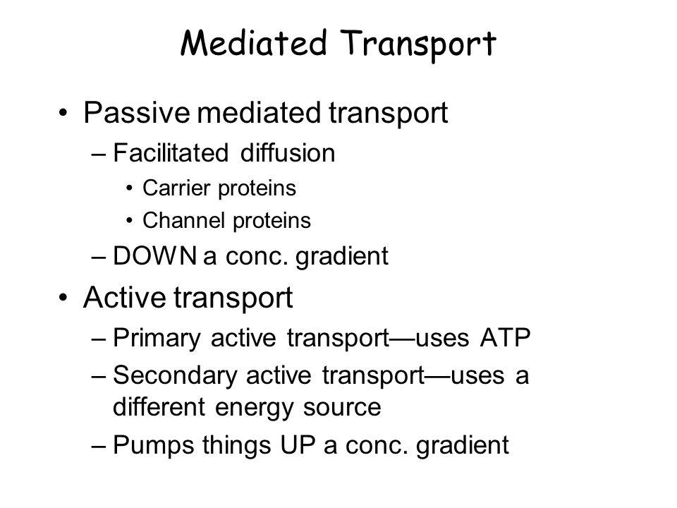 How to tell mediated transport vs.