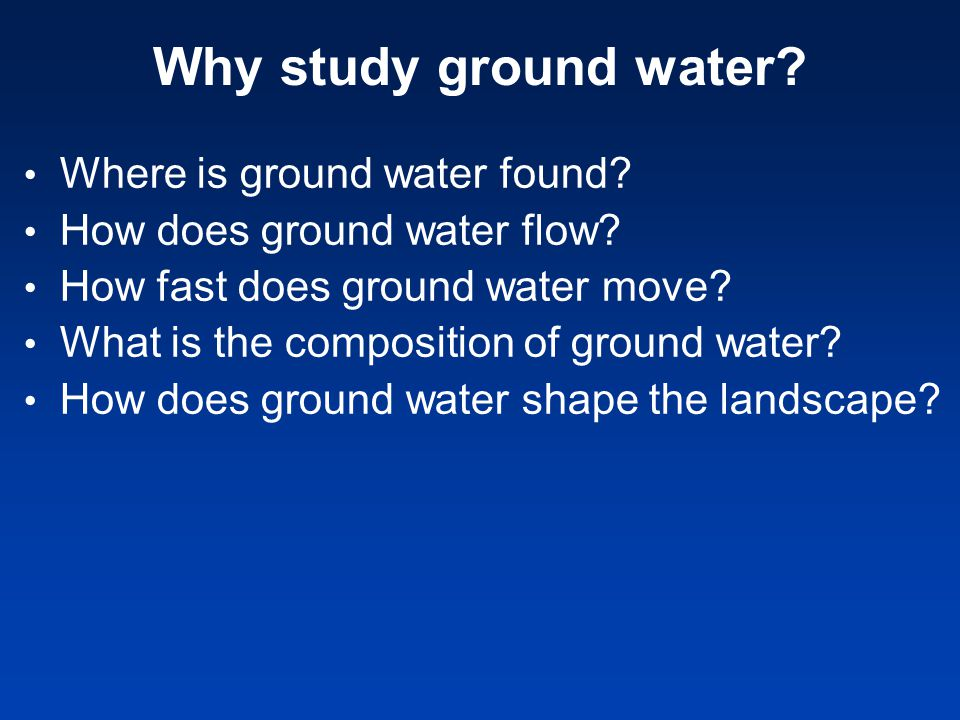 The water table separates the saturated zone from the unsaturated zone (or the zone of aeration) The saturated zone is the region below the water table where all pores are completely filled with water.