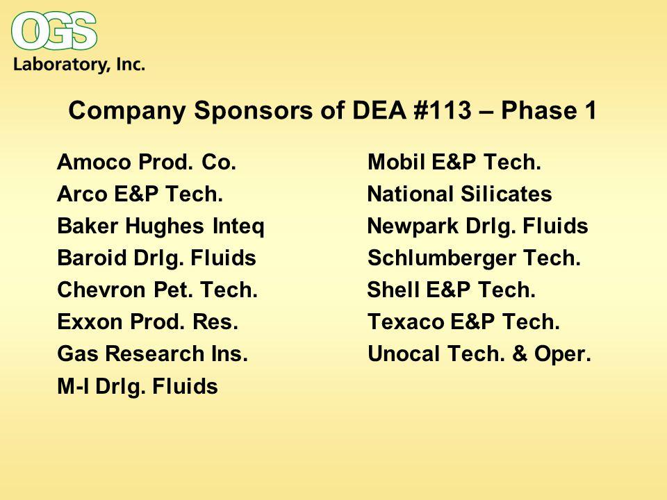 Company Sponsors of DEA #113 – Phase 1 Amoco Prod.