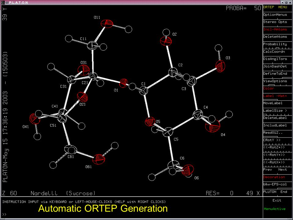Automatic ORTEP Generation