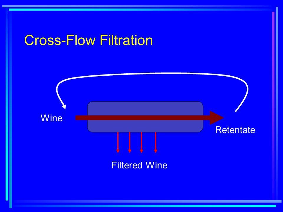 Cross-Flow Filtration Wine Retentate Filtered Wine