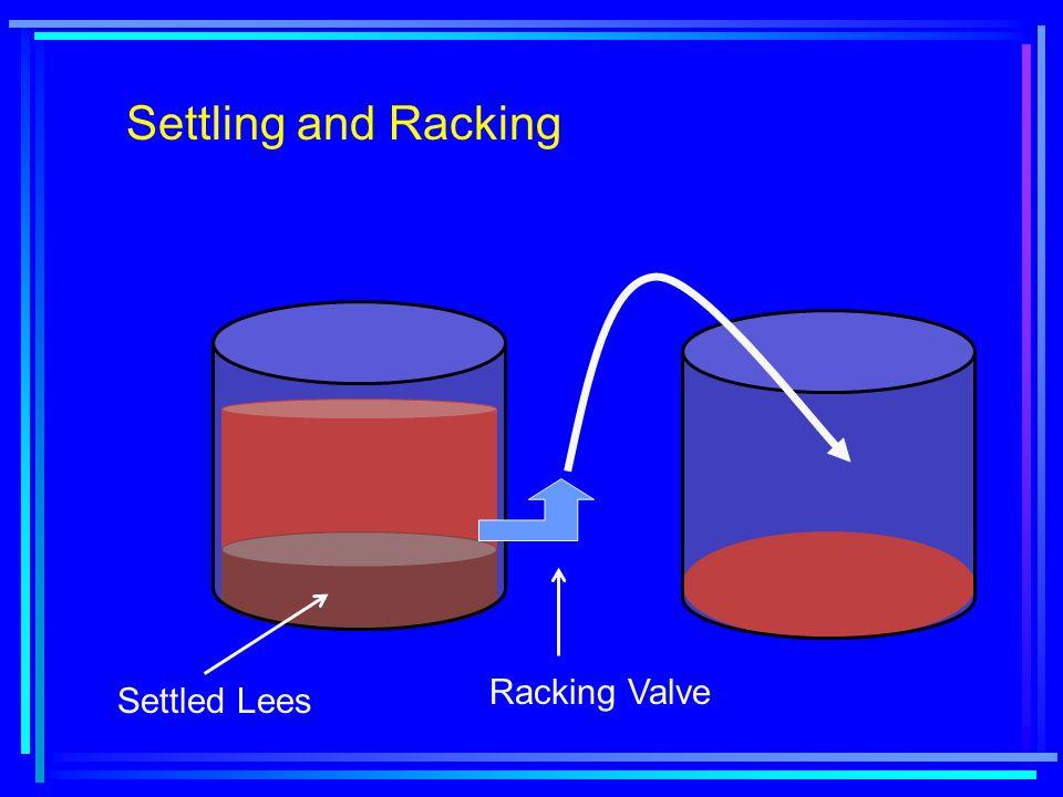 Settling and Racking Settled Lees Racking Valve