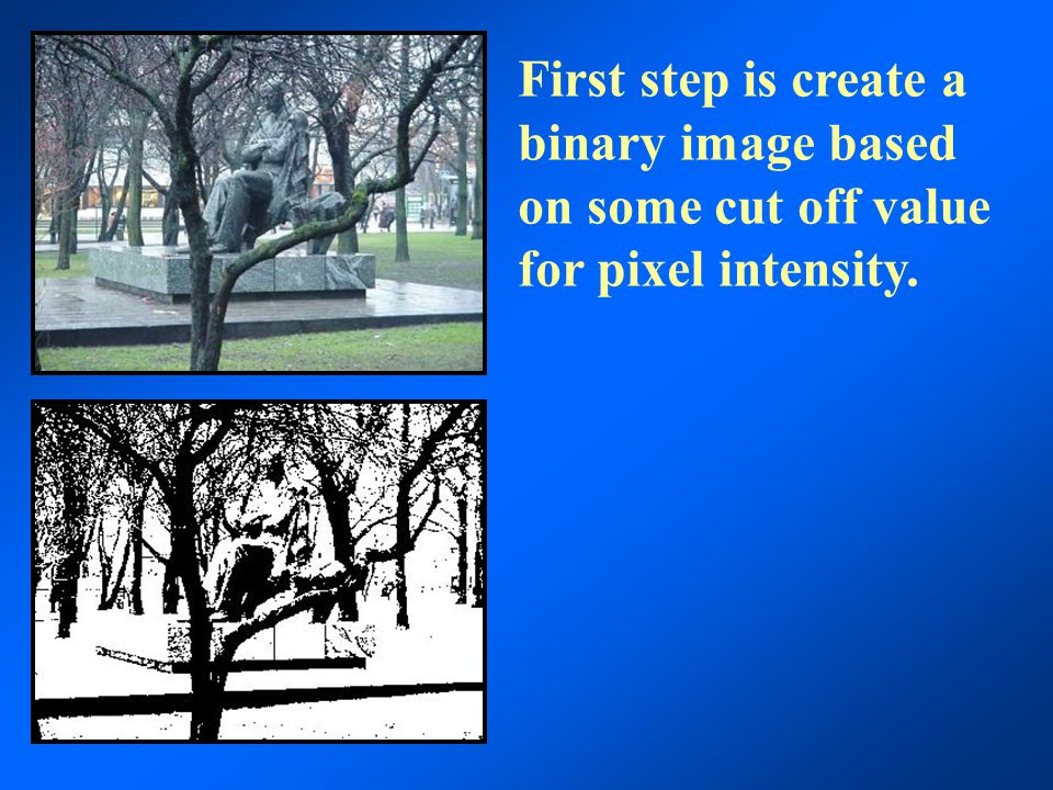 This will reduce the area occupied by the objects but pixels can be added back by a process known as dilation so that objects are restored to nearly their original size without reconnection.