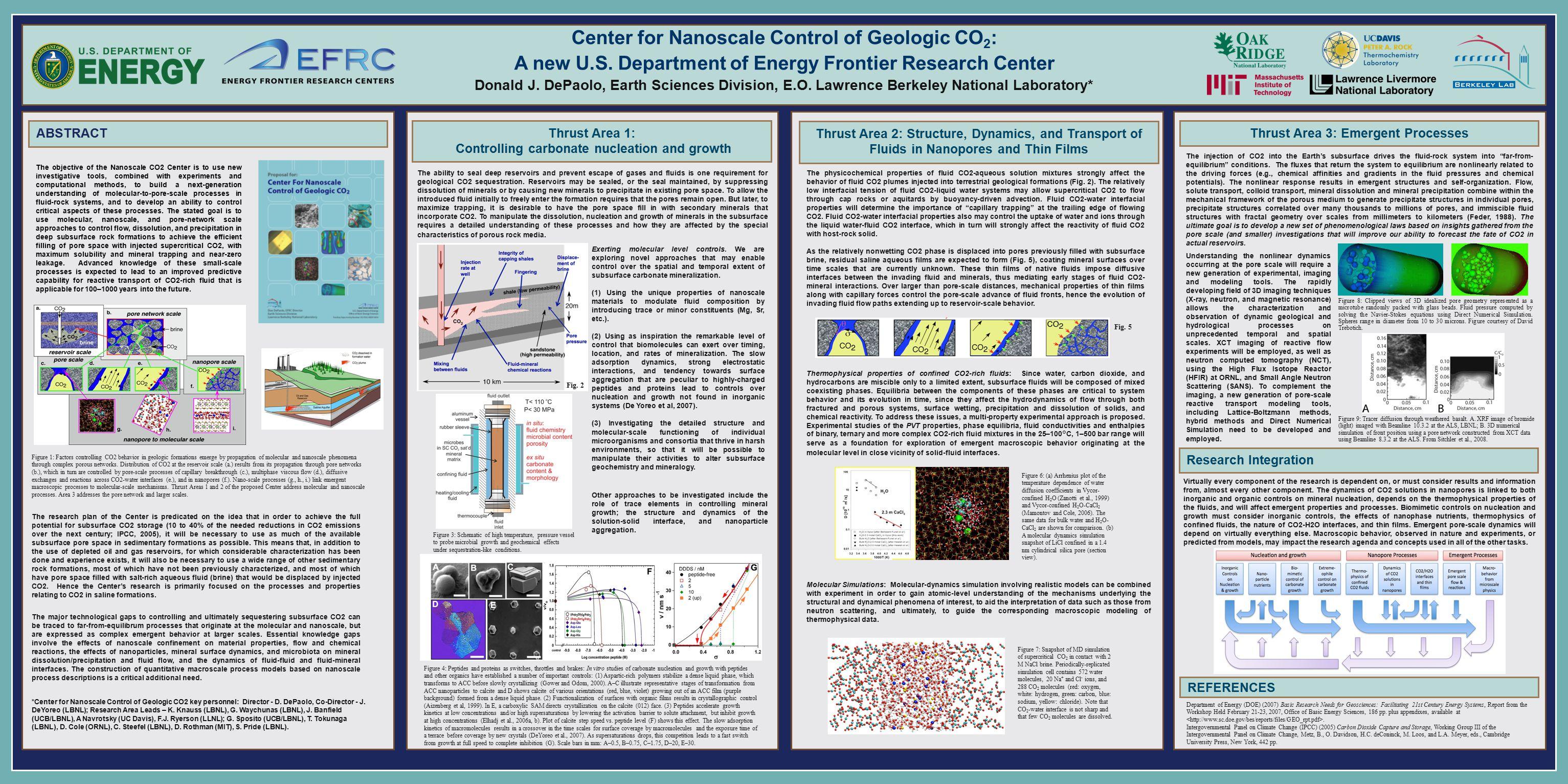 Center for Nanoscale Control of Geologic CO 2 : A new U.S.