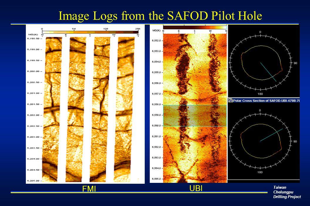Taiwan Chelungpu Drilling Project UBI FMI Image Logs from the SAFOD Pilot Hole