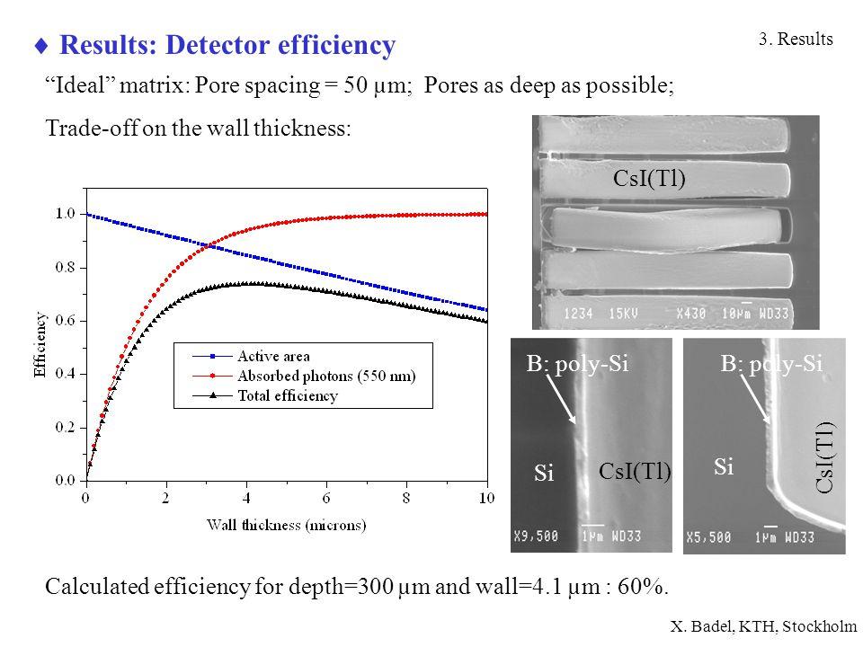  Results: Detector efficiency 3.