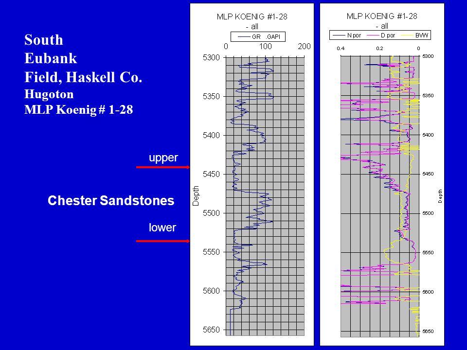 South Eubank Field, Haskell Co. Hugoton MLP Koenig # 1-28 Chester Sandstones upper lower