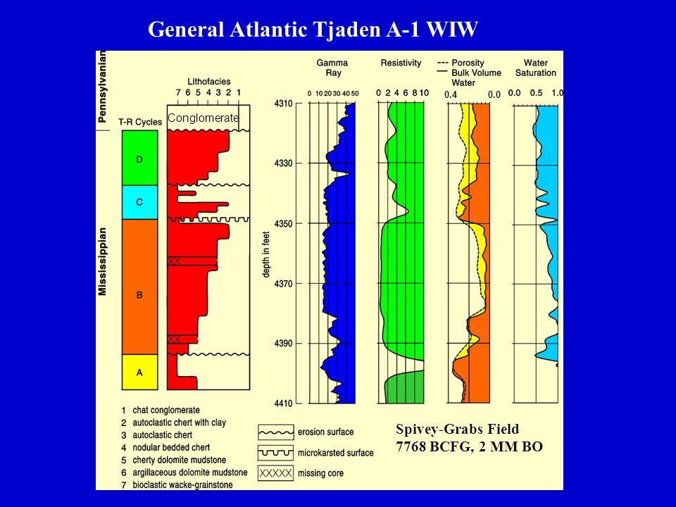 0.4 0.0 General Atlantic Tjaden A-1 WIW Conglomerate Spivey-Grabs Field 7768 BCFG, 2 MM BO