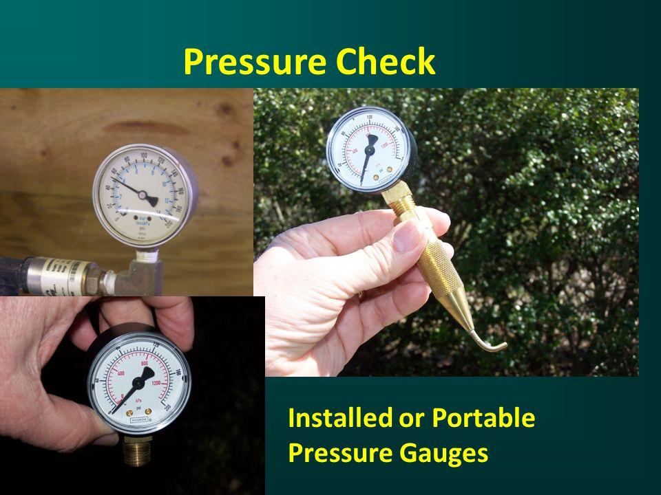 Pressure Check Installed or Portable Pressure Gauges