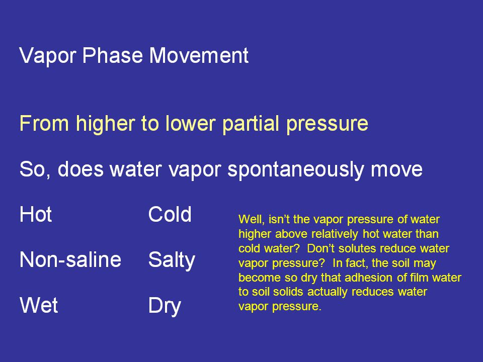 Well, isn't the vapor pressure of water higher above relatively hot water than cold water.