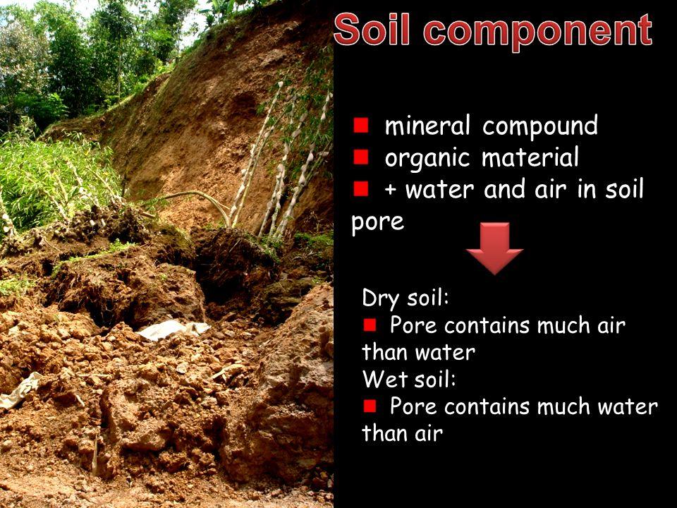 Soil moisture  holding capacity: soil particles  osmosis: solution  capilarrity: soil pore  soil moisture tension  soil moisture pressure The measure of soil ability to keep water againts gravitation