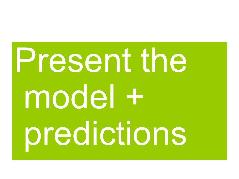 Silver PA Present the model + predictions