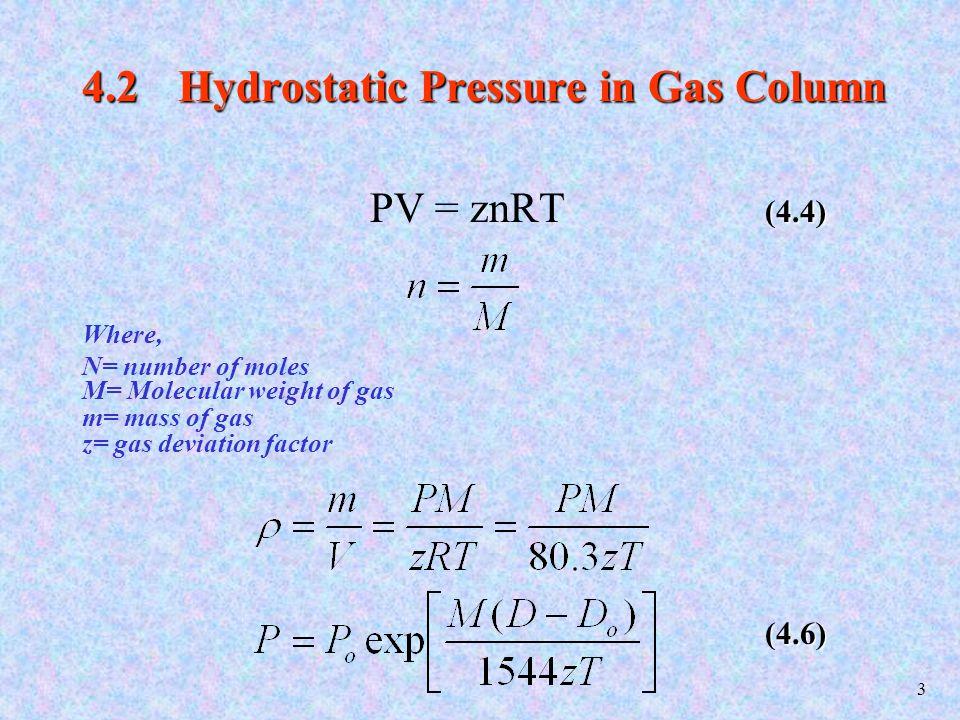 4 4.3 Hydrostatic Pressure in Complex Fluid Columns (4.7)