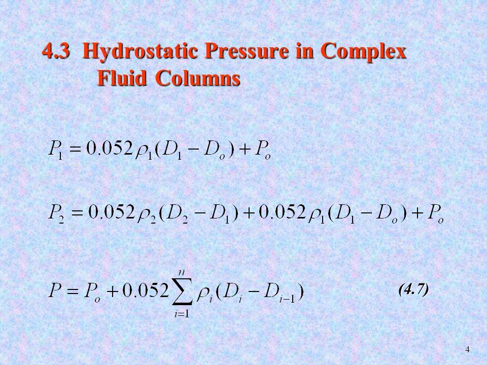 5 Fig 4.3: A Complex Liquid Column