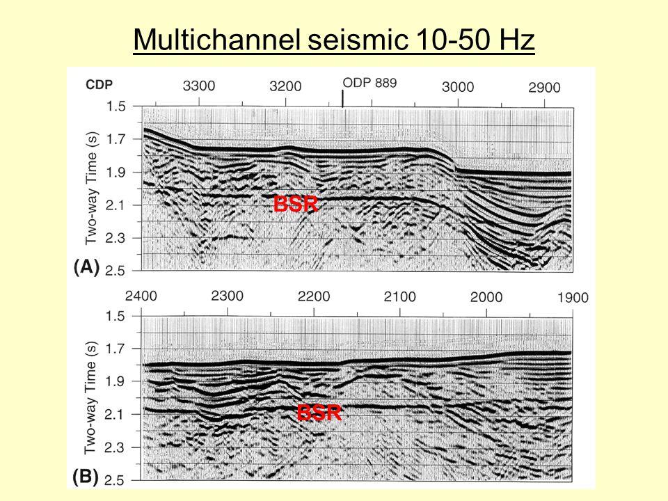 Multichannel seismic 10-50 Hz BSR