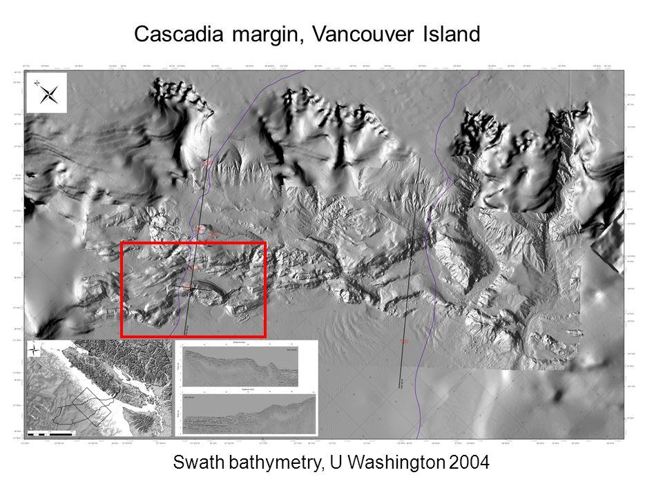 Cascadia margin, Vancouver Island Swath bathymetry, U Washington 2004