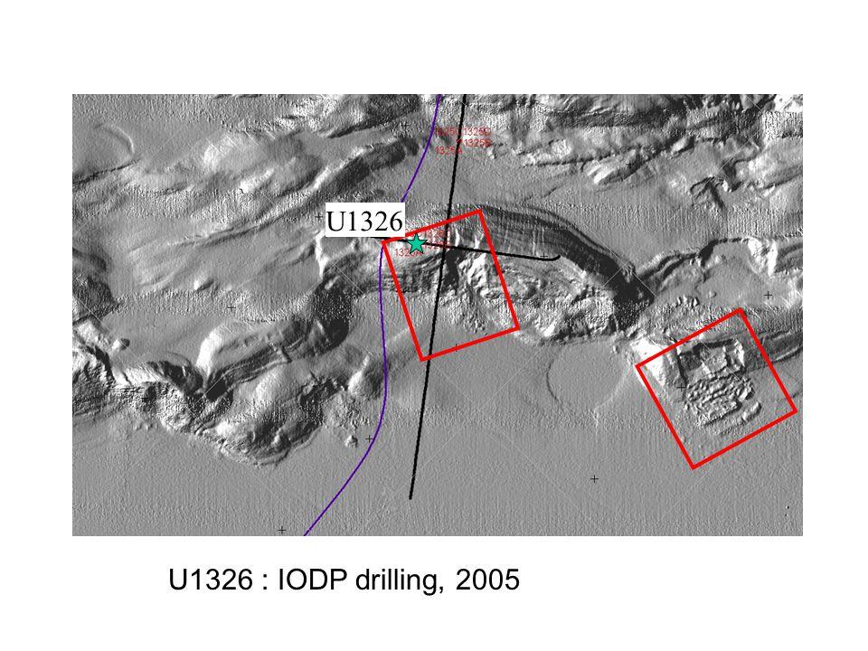 U1326 U1326 : IODP drilling, 2005