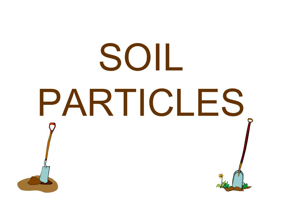 Soil is made up of mineral grains.Water is held between the grains in the pore spaces.