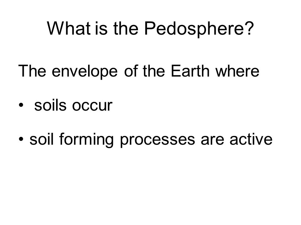 Pedosphere Intersection of four spheres Hydrosphere Lithosphere Biosphere Atmosphere