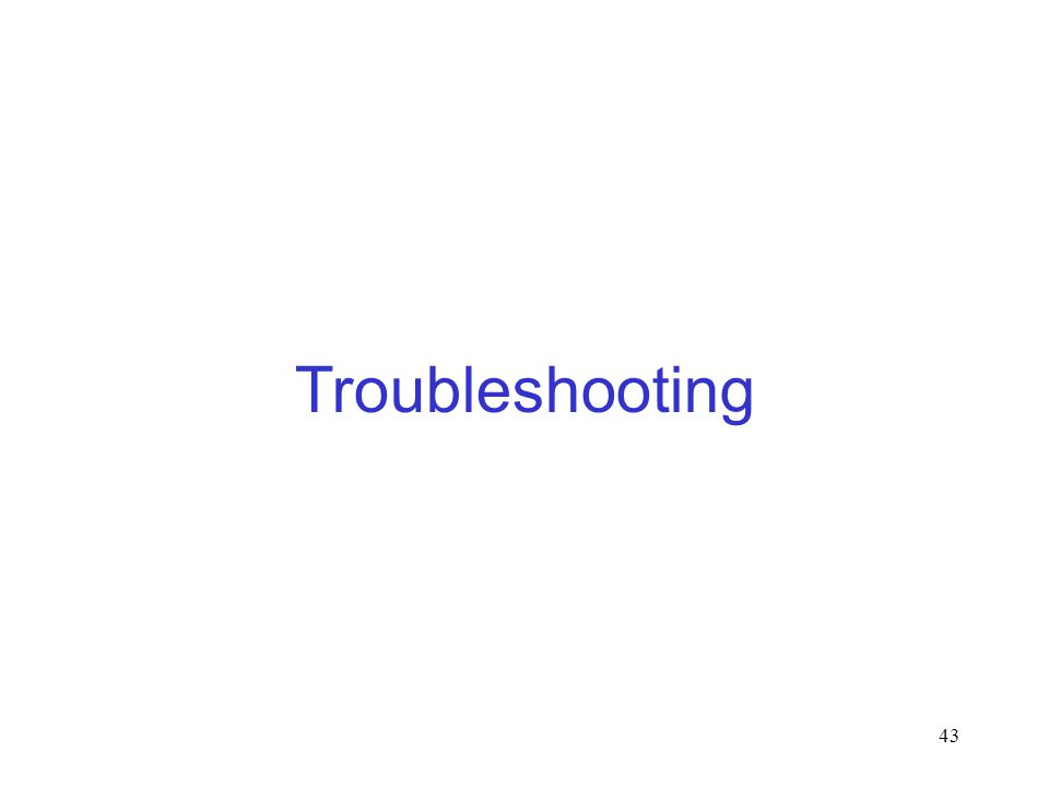 43 Troubleshooting