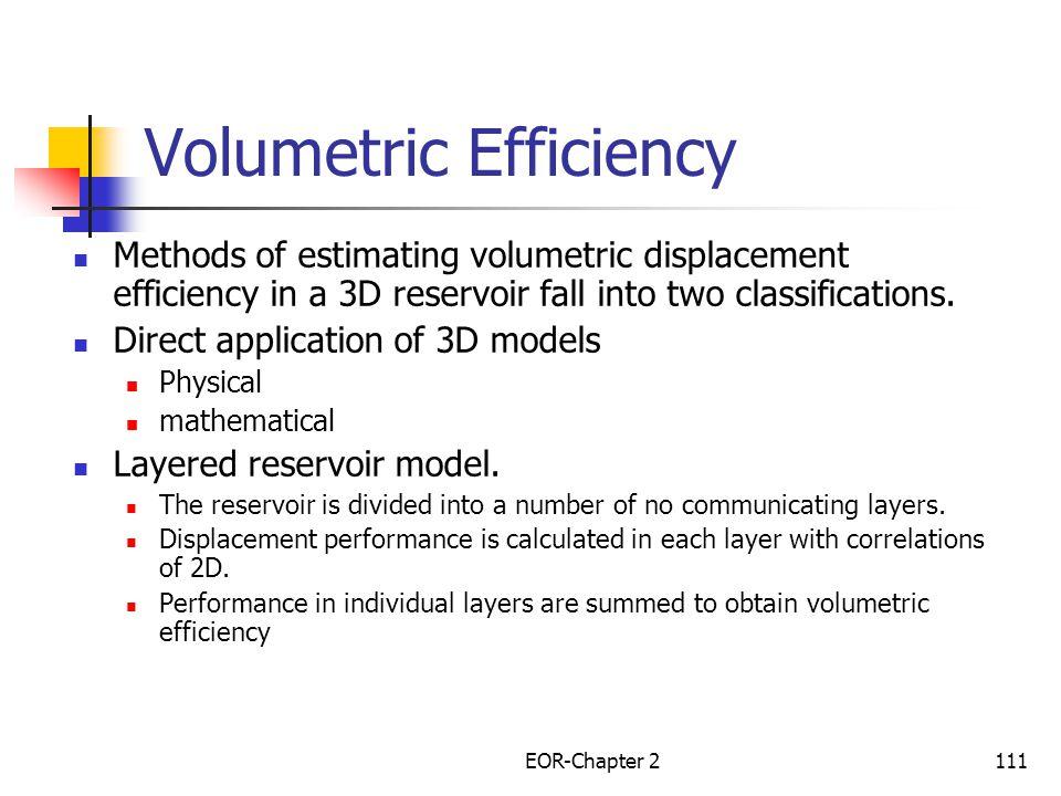 EOR-Chapter 2112 Volumetric Displacement Efficiency