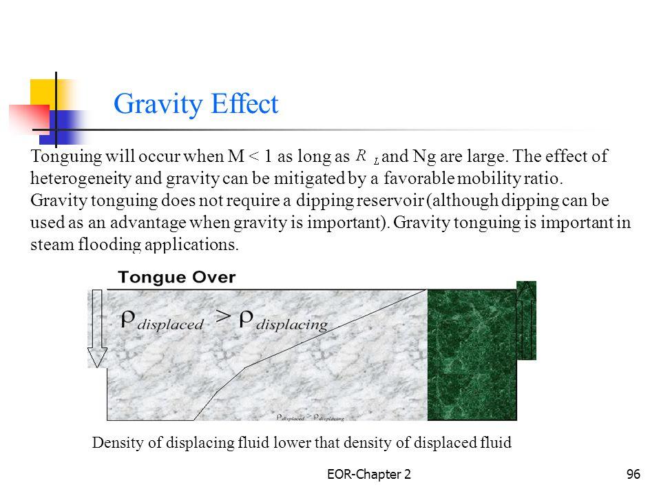 EOR-Chapter 297 Density of displacing fluid higher than density of displaced fluid Gravity Effect