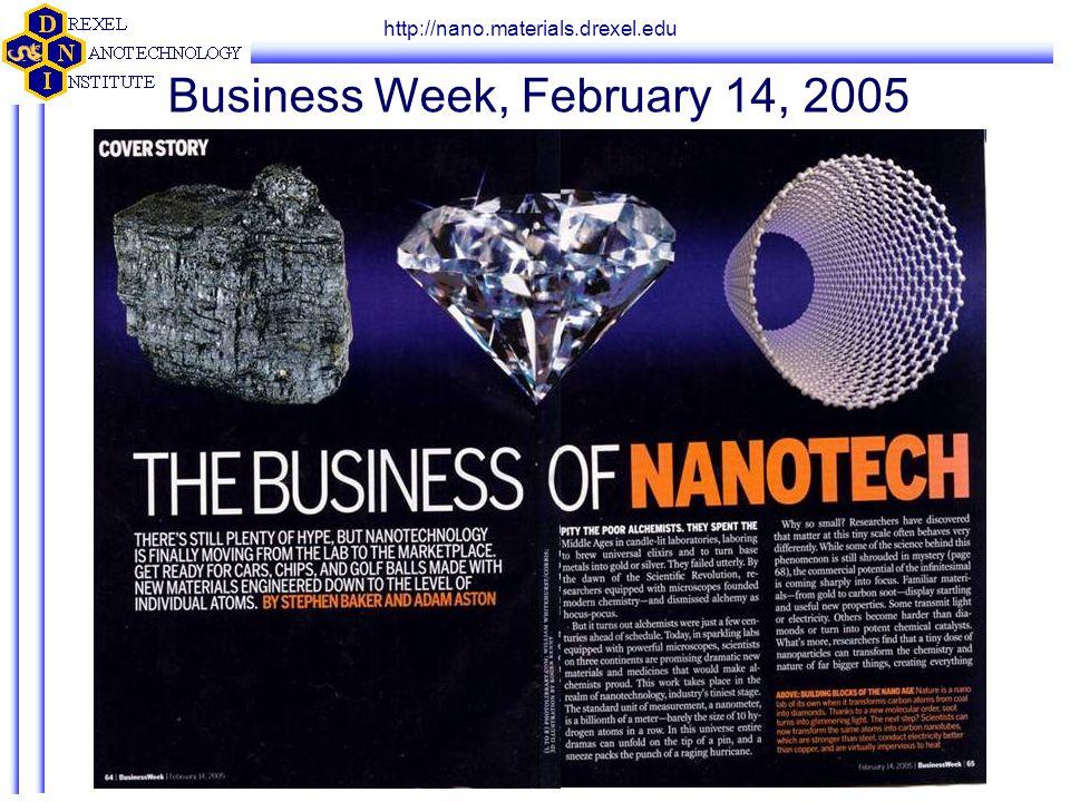 http://nano.materials.drexel.edu Business Week, February 14, 2005