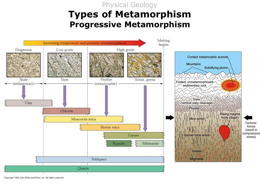 Types of Metamorphism Progressive Metamorphism Physical Geology
