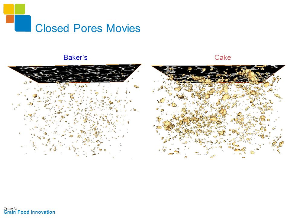 Centre for Grain Food Innovation Closed Pores Movies CakeBaker's