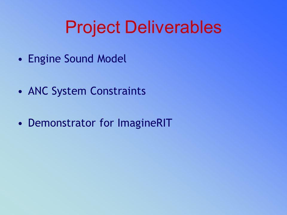 Project Deliverables Engine Sound Model ANC System Constraints Demonstrator for ImagineRIT