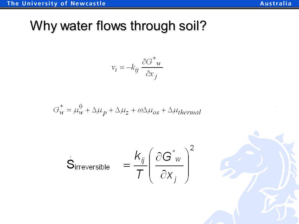 Why water flows through soil?