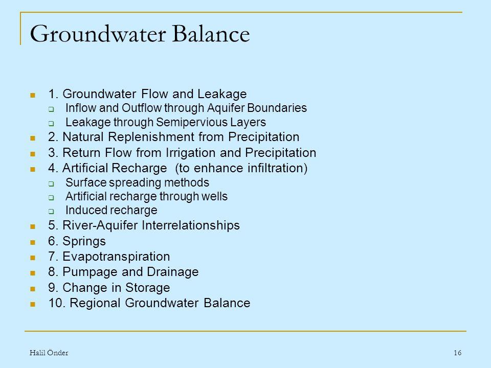 Halil Önder16 Groundwater Balance 1.