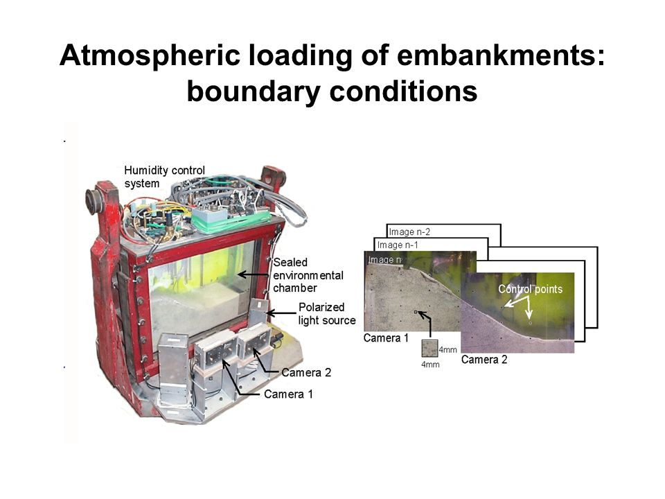 Atmospheric loading of embankments: boundary conditions