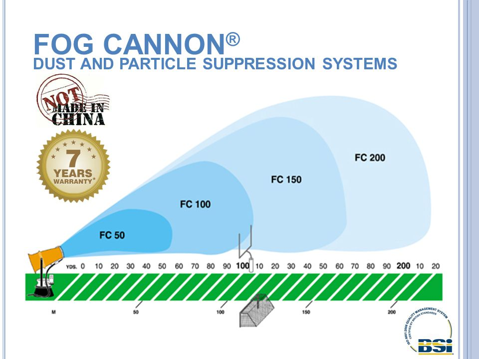 FOG CANNON ® DUST AND PARTICLE SUPPRESSION SYSTEMS