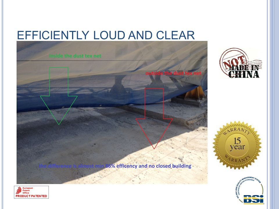 EFFICIENTLY LOUD AND CLEAR