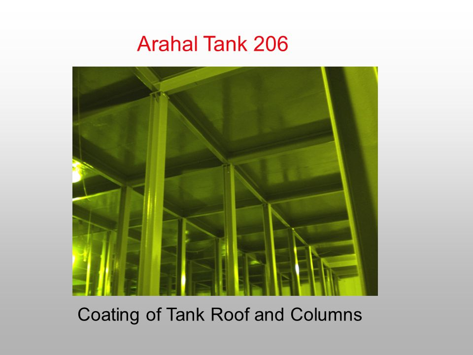 Arahal Tank 206 Coating of Tank Roof and Columns