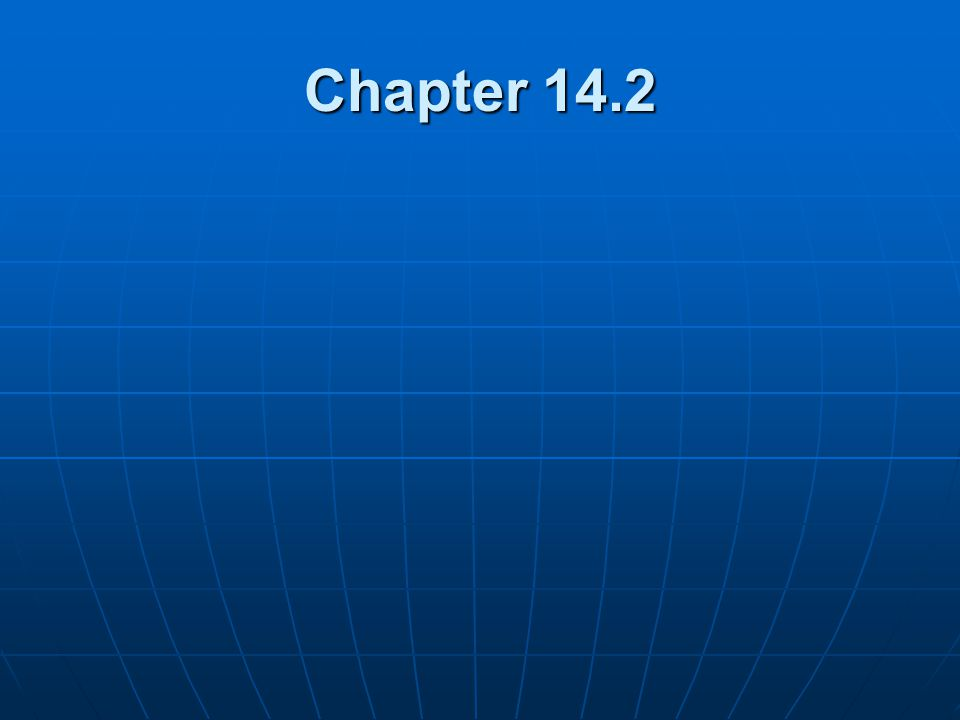 Chapter 14.2
