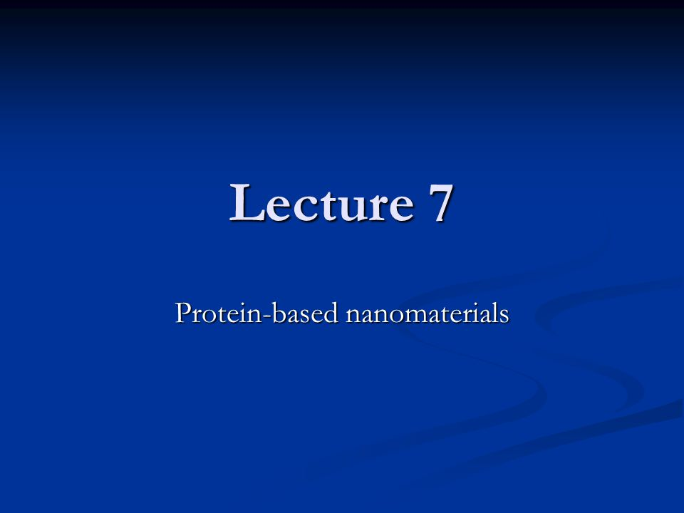 1. Peptide-based nanostructures