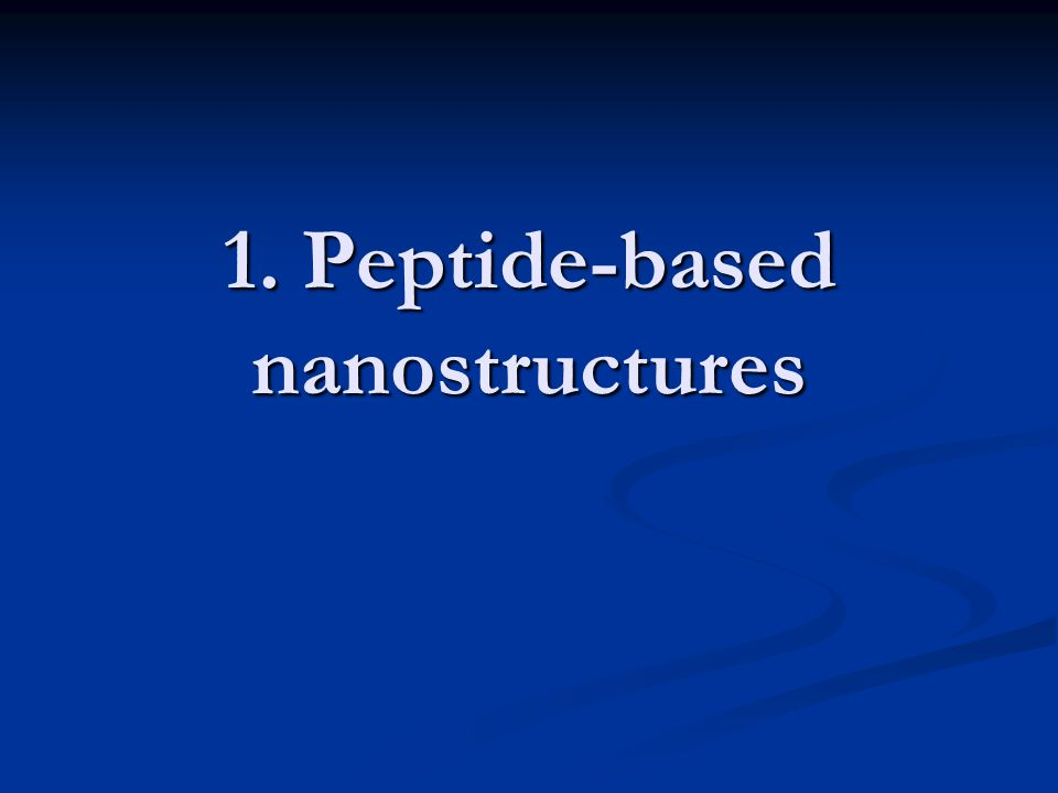 A first insight into SA peptides Concept of peptide SA introduced by Ghadiri et al.